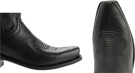 Men's Lucchese Bootmaker Cole Squared Off Toe Cowboy Heel Boot, Black Calf, large, image 4