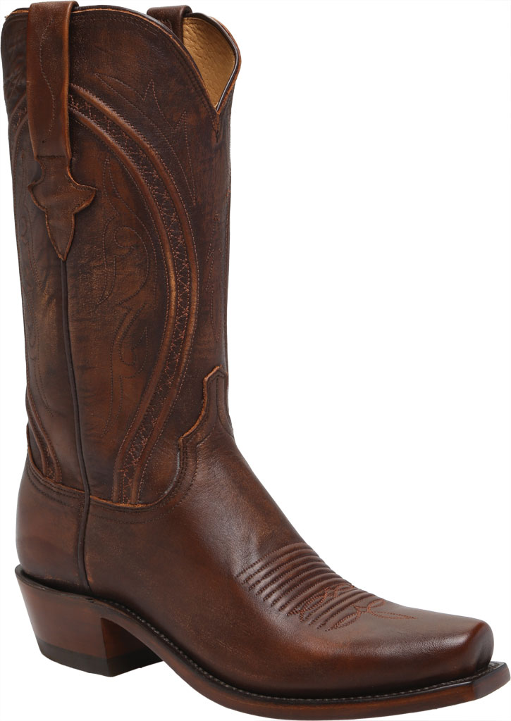 Men's Lucchese Bootmaker Clint 7 Toe Western Boot, Antique Peanut Brittle Mad Dog Goat, large, image 1