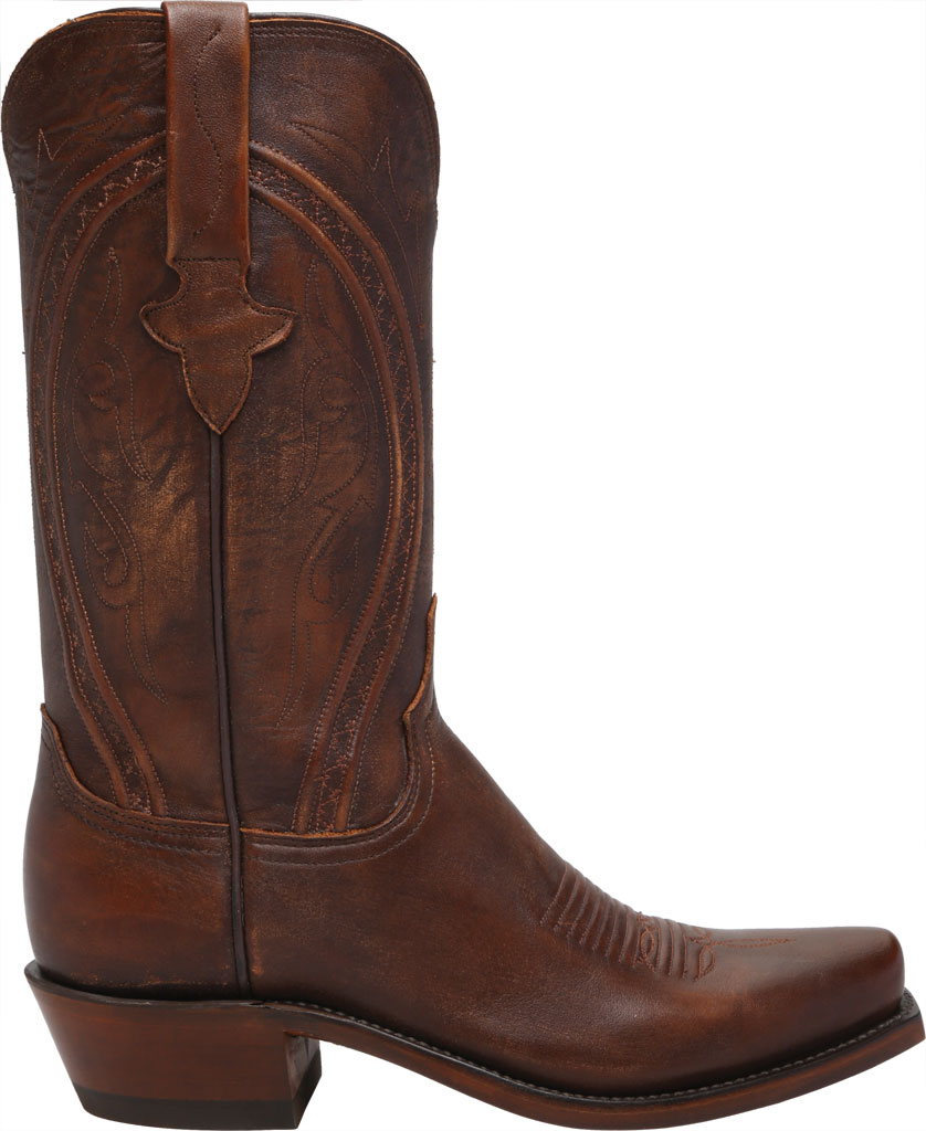 Men's Lucchese Bootmaker Clint 7 Toe Western Boot, Antique Peanut Brittle Mad Dog Goat, large, image 2