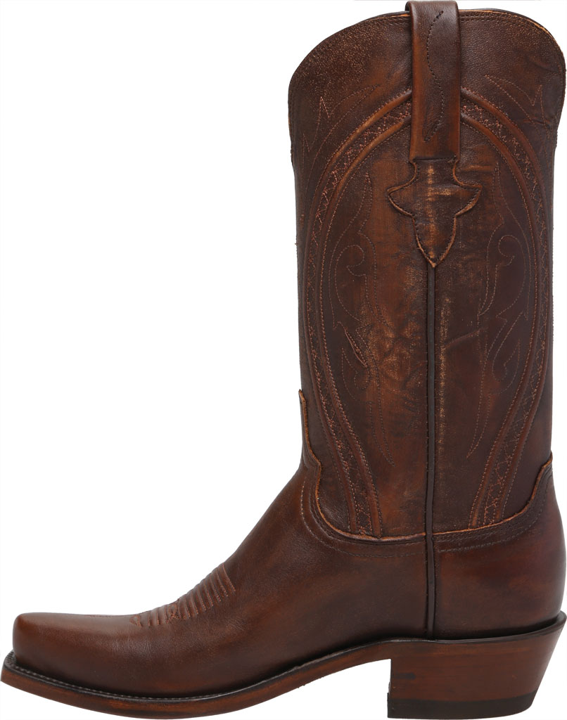 Men's Lucchese Bootmaker Clint 7 Toe Western Boot, Antique Peanut Brittle Mad Dog Goat, large, image 3
