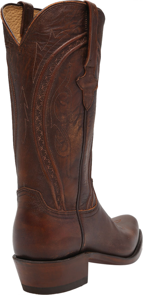 Men's Lucchese Bootmaker Clint 7 Toe Western Boot, Antique Peanut Brittle Mad Dog Goat, large, image 4