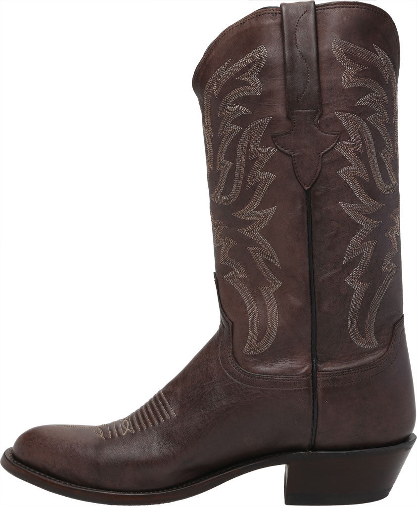 Men's Lucchese Bootmaker Milo R Toe Western Boot, Antique Dark Brown Goat, large, image 3