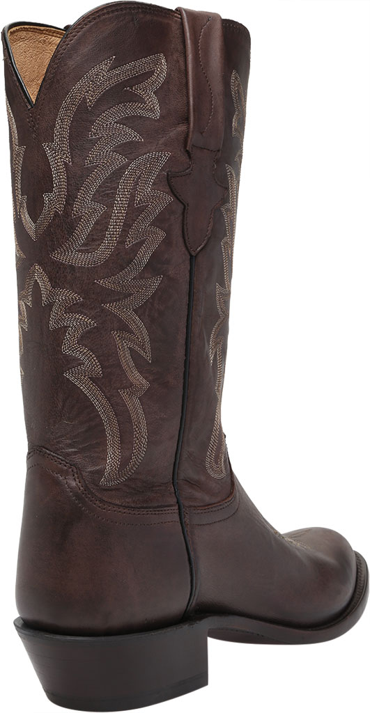 Men's Lucchese Bootmaker Milo R Toe Western Boot, Antique Dark Brown Goat, large, image 4