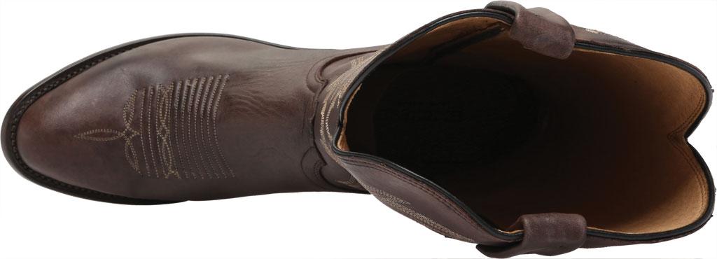 Men's Lucchese Bootmaker Milo R Toe Western Boot, Antique Dark Brown Goat, large, image 5