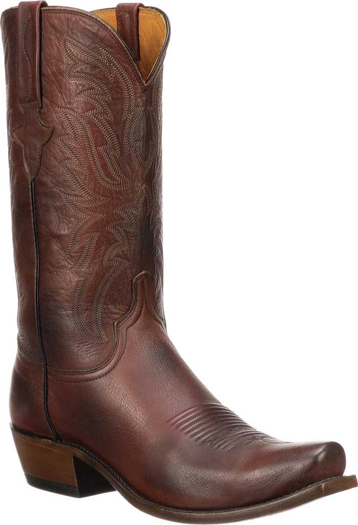 Men's Lucchese Bootmaker Milo 7 Toe Western Boot, Antique Pearwood Goat, large, image 1