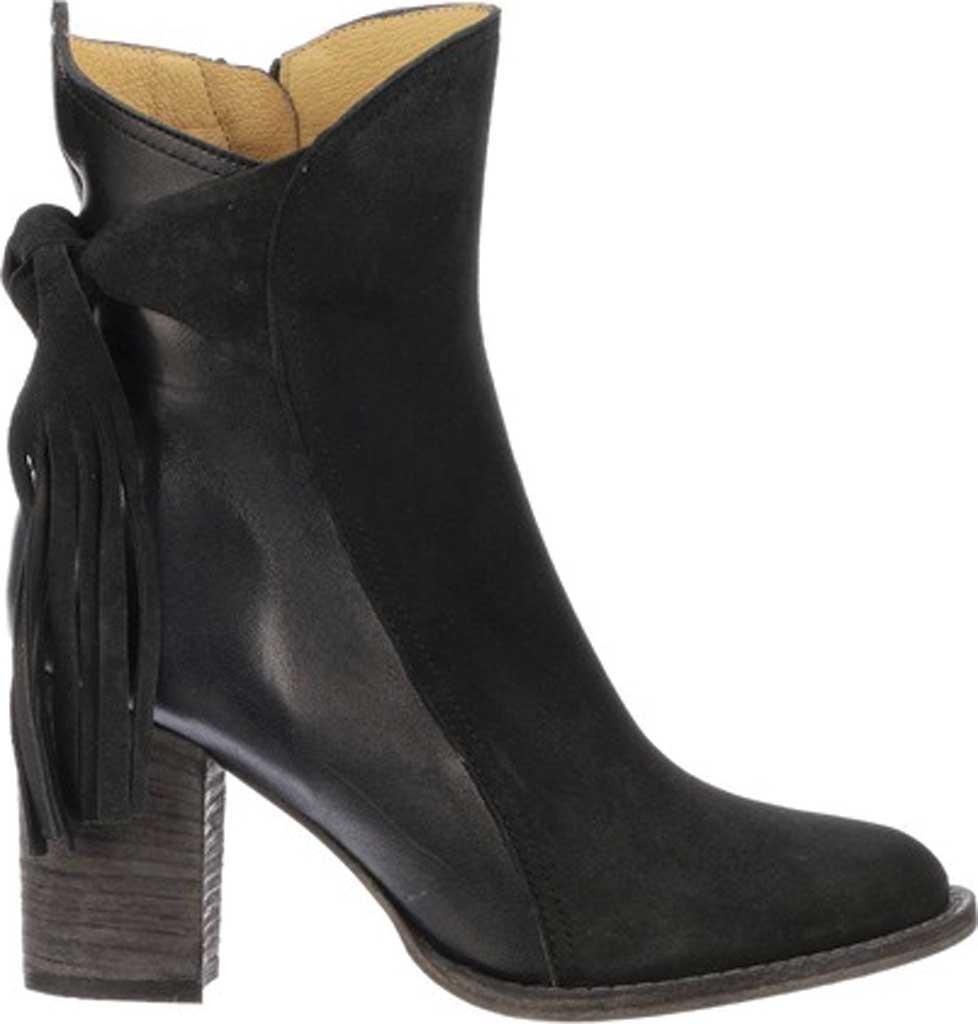 Women's Lucchese Bootmaker Britt Block Heel Bootie, Navy Calfskin, large, image 2