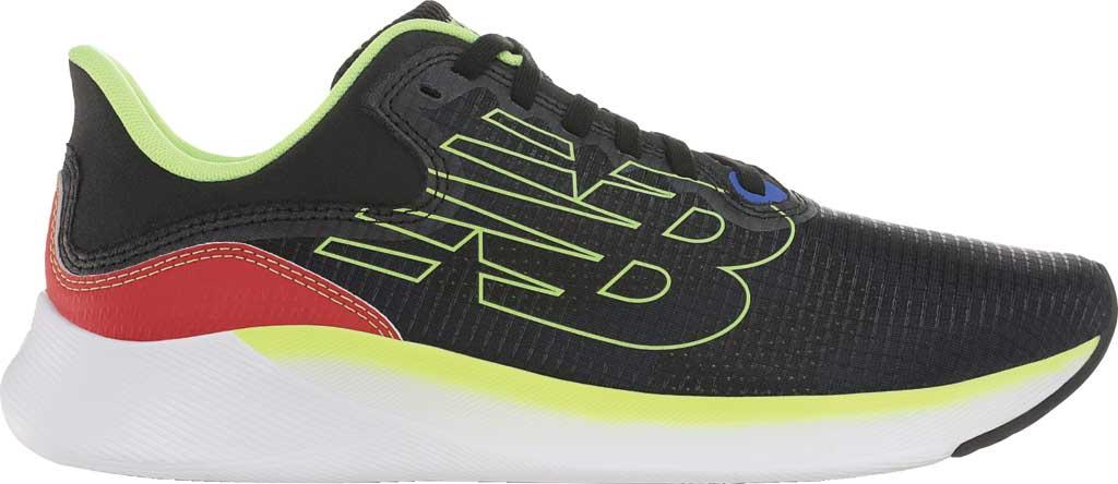 Men's New Balance BREAZA Fresh Foam Running Sneaker, Black/Bleached Lime Glo, large, image 2