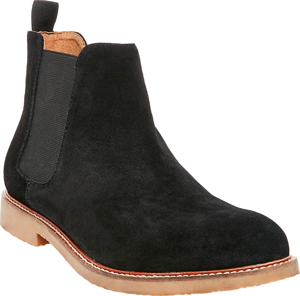 Men's Steve Madden Highline Chelsea Boot, Black Suede, large, image 1