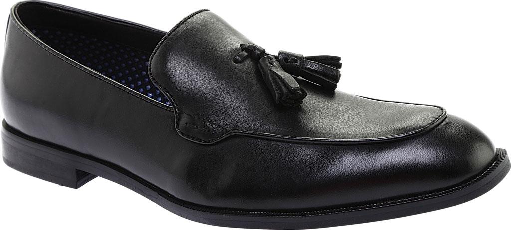 Men's Steve Madden Emeree Tassel Loafer, Black Leather, large, image 1