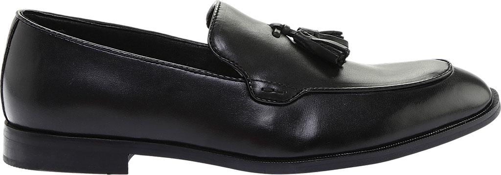 Men's Steve Madden Emeree Tassel Loafer, Black Leather, large, image 2