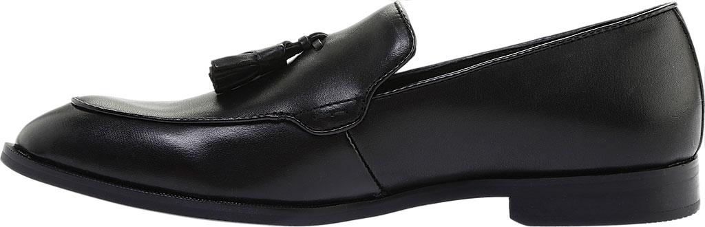 Men's Steve Madden Emeree Tassel Loafer, Black Leather, large, image 3