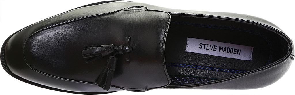 Men's Steve Madden Emeree Tassel Loafer, Black Leather, large, image 5