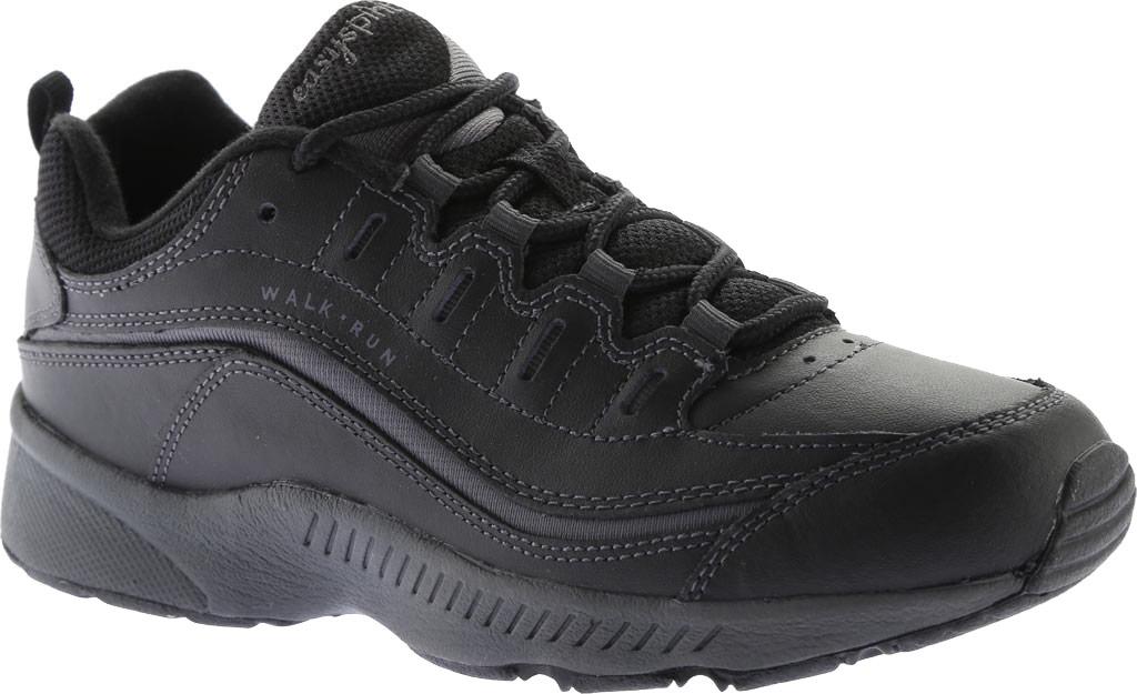 Women's Easy Spirit Romy Walking Shoe, Black/Dark Grey Leather, large, image 1