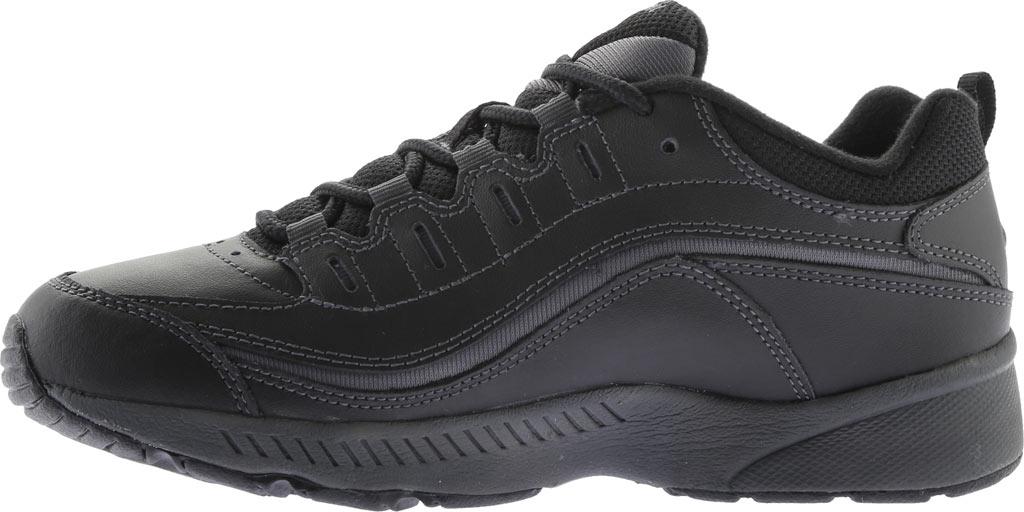 Women's Easy Spirit Romy Walking Shoe, Black/Dark Grey Leather, large, image 3