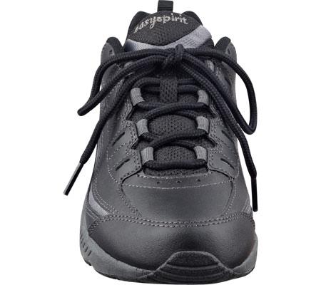 Women's Easy Spirit Romy Walking Shoe, Black/Dark Grey Leather, large, image 4