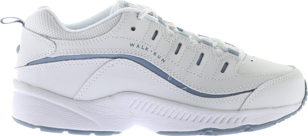 Women's Easy Spirit Romy Walking Shoe, White/Medium Blue Leather, large, image 2