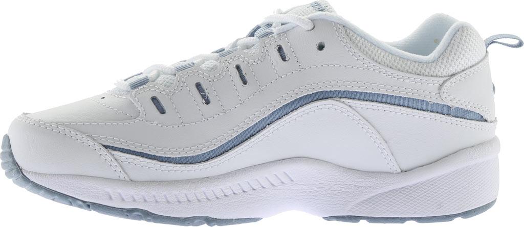 Women's Easy Spirit Romy Walking Shoe, White/Medium Blue Leather, large, image 3