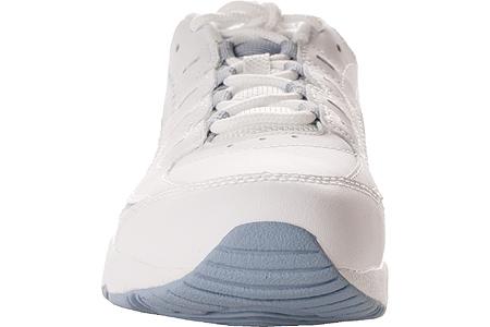 Women's Easy Spirit Romy Walking Shoe, White/Medium Blue Leather, large, image 4