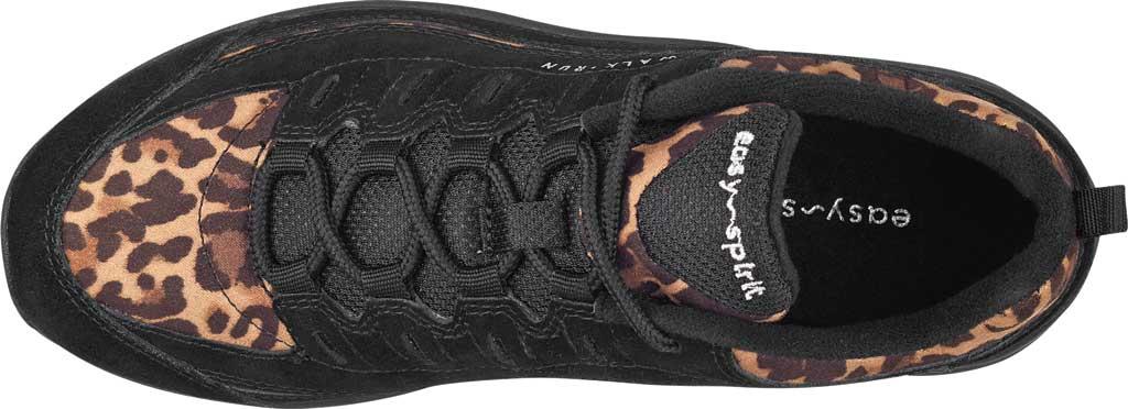 Women's Easy Spirit Romy Walking Shoe, Black Suede/Fabric, large, image 4