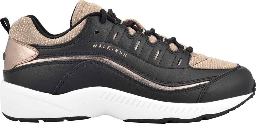 Women's Easy Spirit Romy Walking Shoe, Black/Tan Leather/Fabric, large, image 2