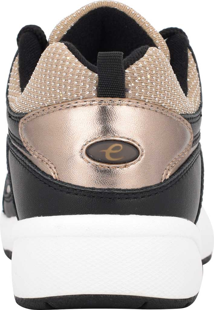 Women's Easy Spirit Romy Walking Shoe, Black/Tan Leather/Fabric, large, image 3