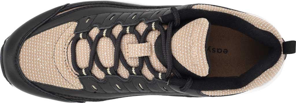Women's Easy Spirit Romy Walking Shoe, Black/Tan Leather/Fabric, large, image 4