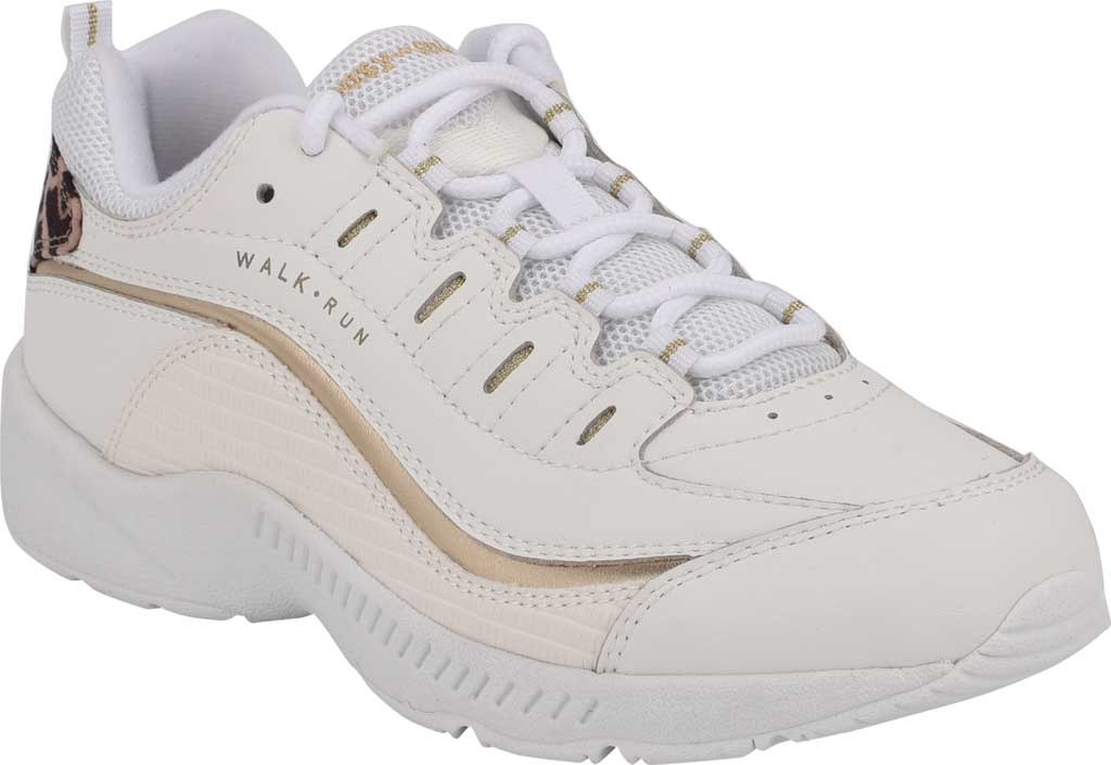 Women's Easy Spirit Romy Walking Shoe, White/White Leather/Fabric, large, image 1
