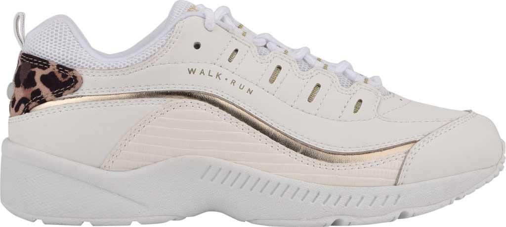 Women's Easy Spirit Romy Walking Shoe, White/White Leather/Fabric, large, image 2