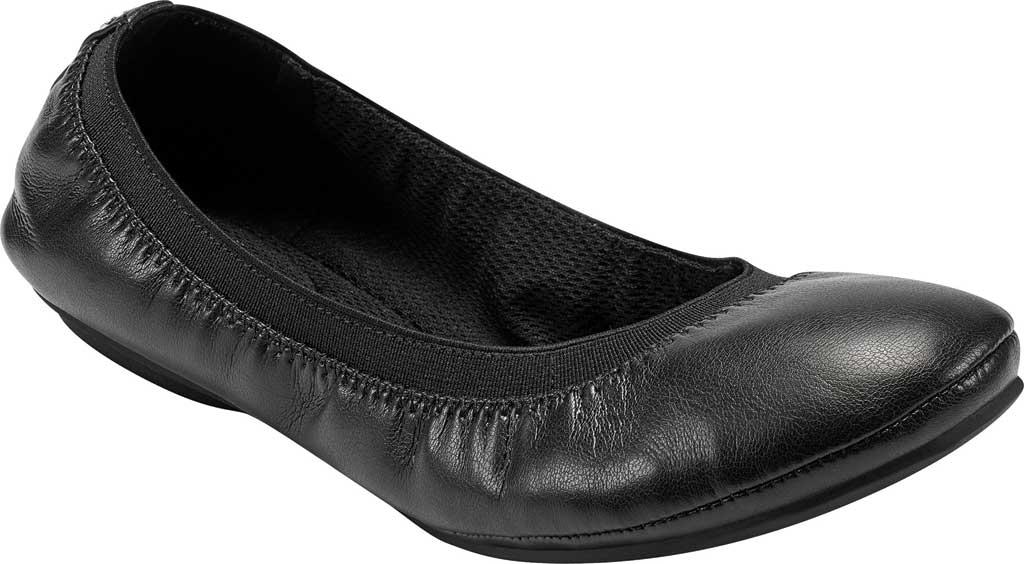 Women's Bandolino Edition, Black Soft Gathered Leather PU/Sleek Elastic, large, image 1