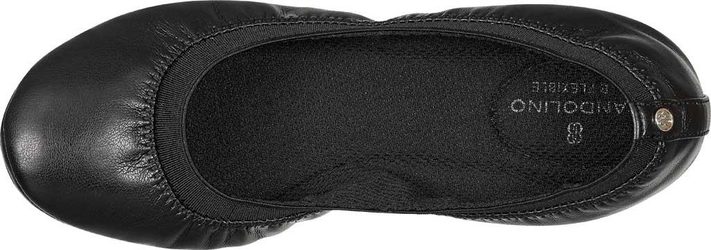 Women's Bandolino Edition, Black Soft Gathered Leather PU/Sleek Elastic, large, image 4