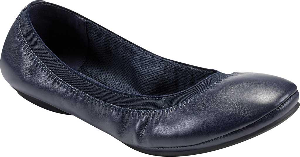 Women's Bandolino Edition, Navy Soft Gathered Leather PU/Sleek Elastic, large, image 1