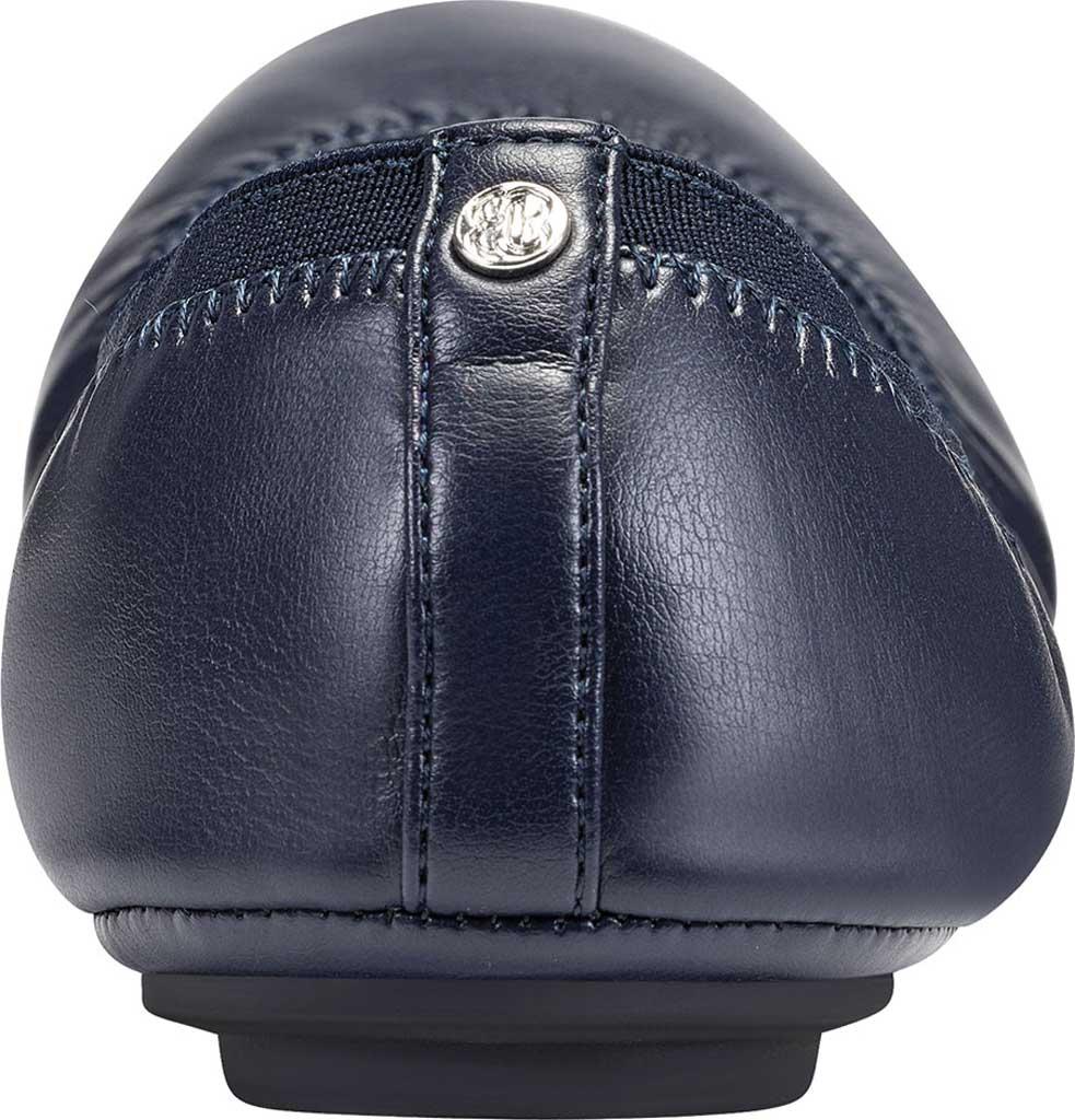 Women's Bandolino Edition, Navy Soft Gathered Leather PU/Sleek Elastic, large, image 3