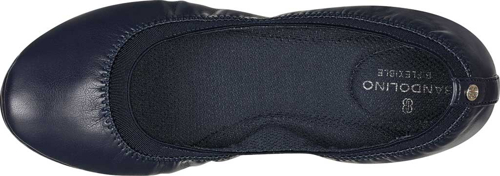 Women's Bandolino Edition, Navy Soft Gathered Leather PU/Sleek Elastic, large, image 4