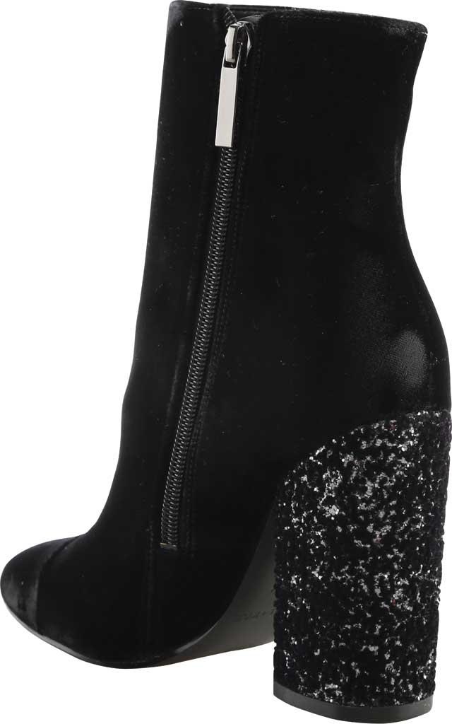 Women's Kendall & Kylie Kaden Glitter Heel Velvet Bootie, Black Velvet, large, image 2
