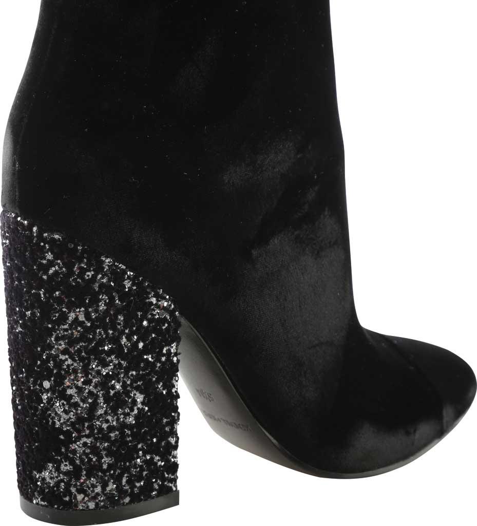 Women's Kendall & Kylie Kaden Glitter Heel Velvet Bootie, Black Velvet, large, image 4