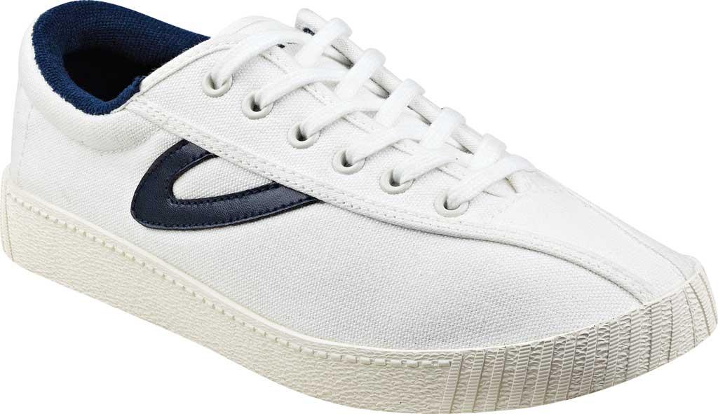 Women's Tretorn NylitePlus Sneaker, Vintage White/Navy Denim, large, image 1