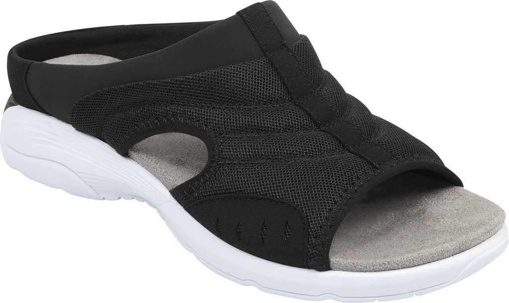 Women's Easy Spirit Traciee Slide, Black Fabric/Synthetic, large, image 1