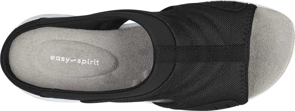 Women's Easy Spirit Traciee Slide, Black Fabric/Synthetic, large, image 4