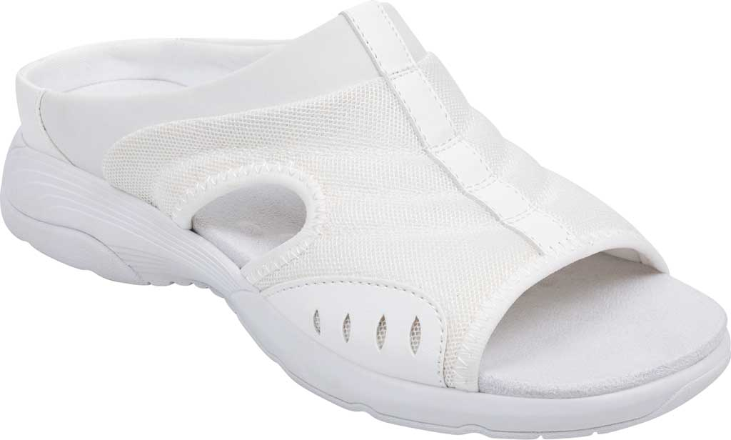 Women's Easy Spirit Traciee Slide, White Fabric/Synthetic, large, image 1