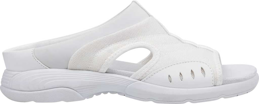 Women's Easy Spirit Traciee Slide, White Fabric/Synthetic, large, image 2