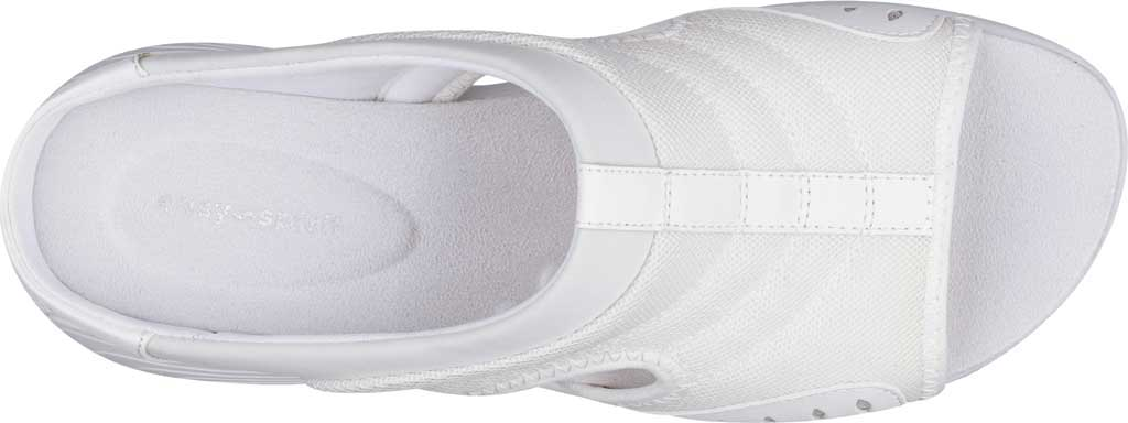 Women's Easy Spirit Traciee Slide, White Fabric/Synthetic, large, image 4