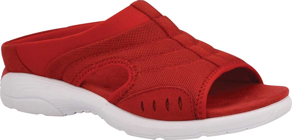 Women's Easy Spirit Traciee Slide, Red Mesh/Suede, large, image 1
