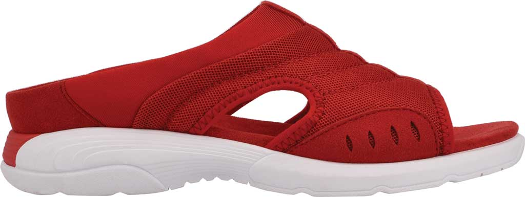 Women's Easy Spirit Traciee Slide, Red Mesh/Suede, large, image 2