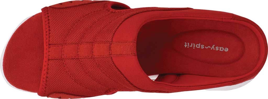 Women's Easy Spirit Traciee Slide, Red Mesh/Suede, large, image 3