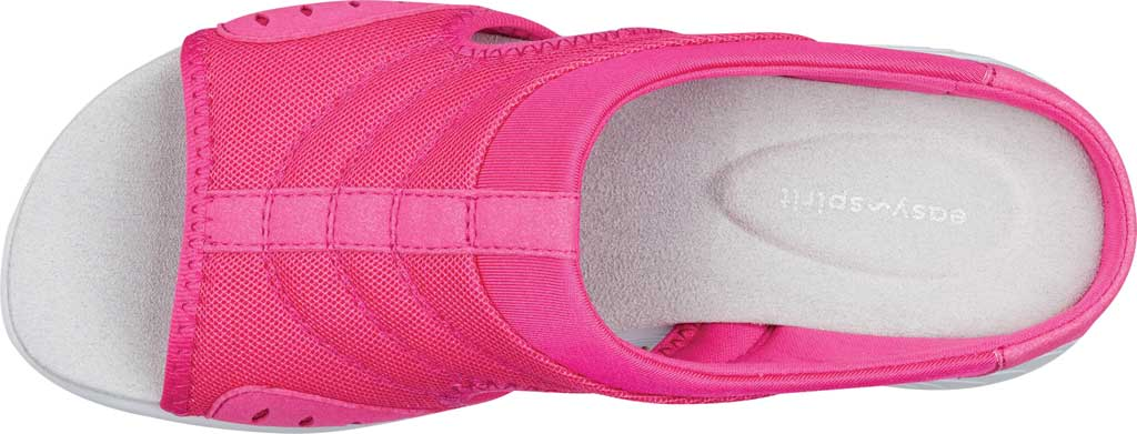 Women's Easy Spirit Traciee Slide, Pink Synthetic/Fabric, large, image 4