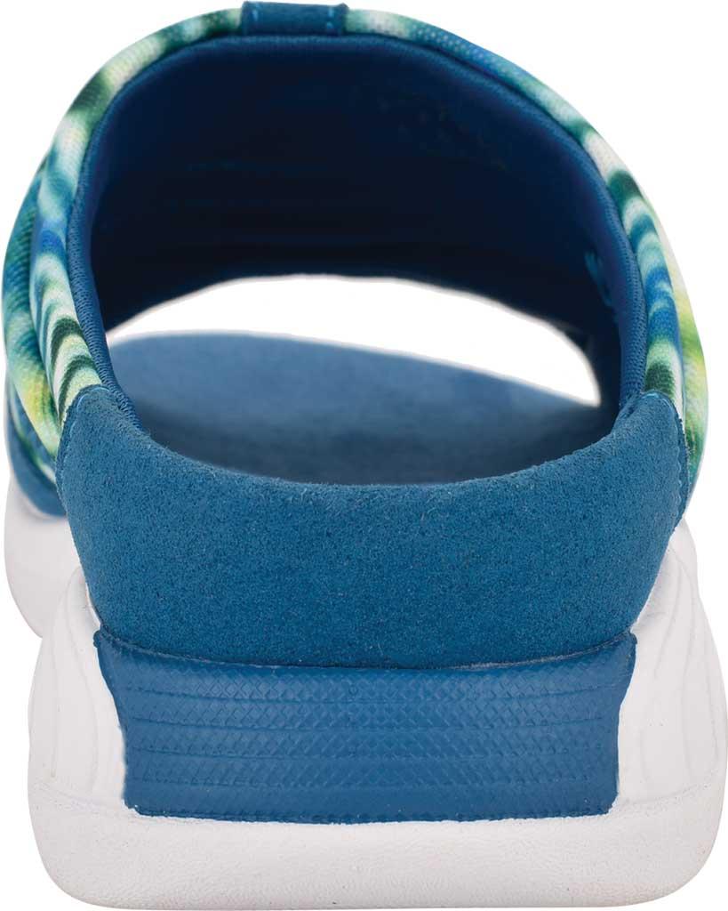 Women's Easy Spirit Traciee Slide, Blue Rete Swirl/Microsuede, large, image 3