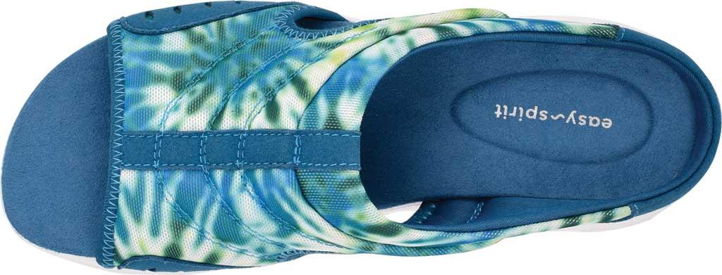 Women's Easy Spirit Traciee Slide, Blue Rete Swirl/Microsuede, large, image 4
