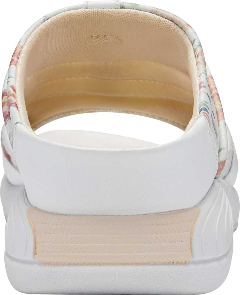 Women's Easy Spirit Traciee Slide, White Summer Floral Print Fabric, large, image 3