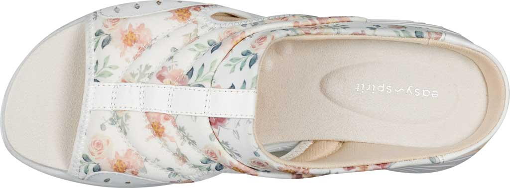 Women's Easy Spirit Traciee Slide, White Summer Floral Print Fabric, large, image 4
