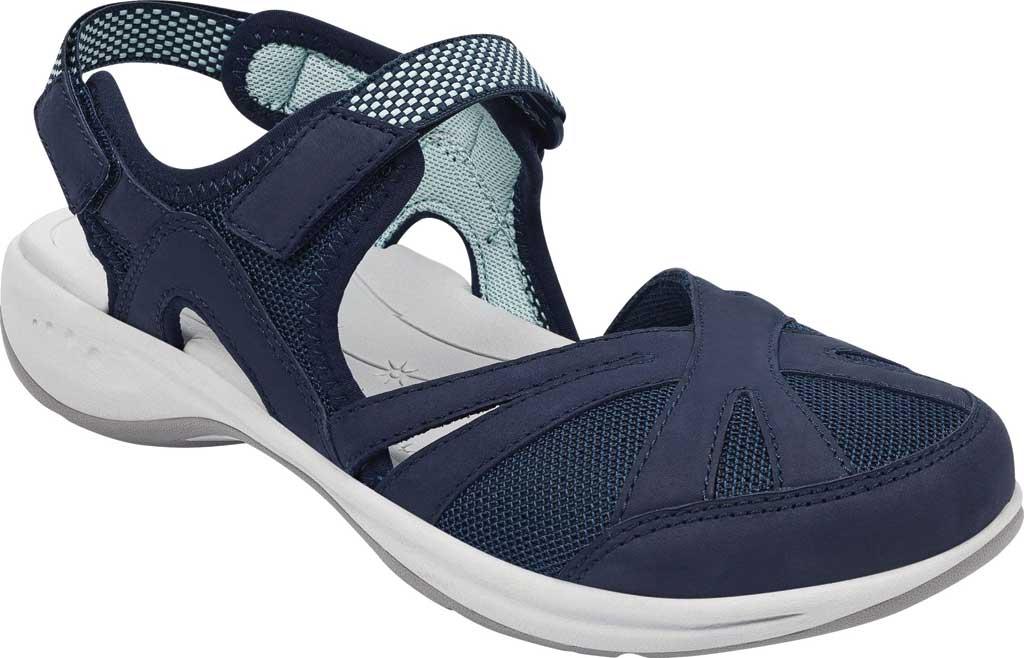 Women's Easy Spirit Splash Closed Toe Sandal, Blue Suede/Mesh, large, image 1